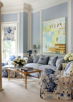 Grey and Light Blue Living Room. 20 Grey and Light Blue Living Room. Love This Light Blue Living Room Blue Rooms, Room Colors, Blue White Decor, Interior Design, Living Room Decor, Blue And White Living Room, Interior, White Decor, Coastal Style Living Room