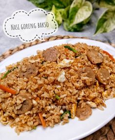 Resep masakan praktis sehari-hari Instagram Rice Recipes, Cooking Recipes, Healthy Recipes, Cooking Time, Healthy Food, Special Fried Rice Recipe, Fried Rice Seasoning, Rice Ingredients, Nasi Goreng