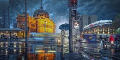 Rainy night in Melbourne 5 by Adrian Donoghue on 500px