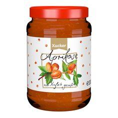 Aprikose-Fruchtaufstrich:  mit Süßungsmittel Xylit (aus Finnland).  Ohne Gentechnik, vegan und Allergen-frei