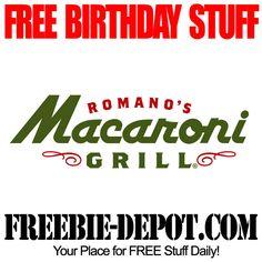 ►► FREE BIRTHDAY STUFF - Romano's Macaroni Grill - Birthday Freebie Dessert - FREE BDay Tiramisu ►► #BirthdayFreebie, #FreeBirthdayStuff, #HappyBirthday ►► Freebie-Depot