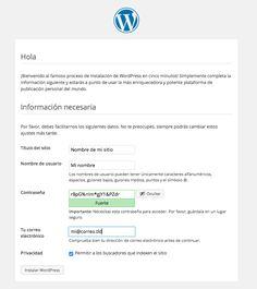 Instalar WordPress en servidor con la consola / terminal