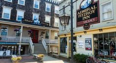 Admiral Fitzroy Inn Newport Overlooking the bay in Newport, Rhode Island's charming waterfront district, this historic bed and breakfast offers elegantly decorated guestrooms, friendly service and is only moments from downtown attractions.