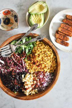 O & O Eats: Southwest Salad With Tempeh & Chipotle Lime Vinaigrette