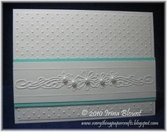 Cricut Damask Decor Projects | Card made using the Cuttlebug and embossing folders by bethany