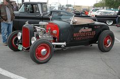 1930's Ford Model 'A' Hot Rod Roadster With Flathead V8 And Correct Ford Wire Wheels. Old School Perfect.
