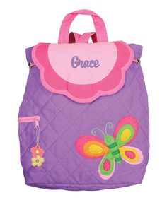 Look at this Butterfly Personalized Quilted Backpack on #zulily today!