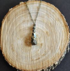 Pyrite Descending Drop Necklace. $35.00, via Etsy.