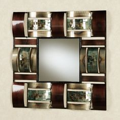 Jayson Square Metal Wall Mirror