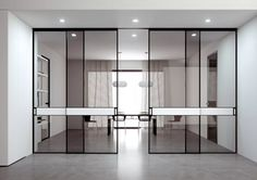 This is an ADL Piana Band Sliding Door with a contrasting white band from IQ Furniture.