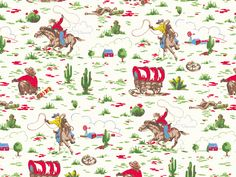 Cowboy | Cath's love of vintage Americana inspired this favourite novelty print, which was originally designed to sit with our classic rose prints | Cath Kidston Classic 2001 |
