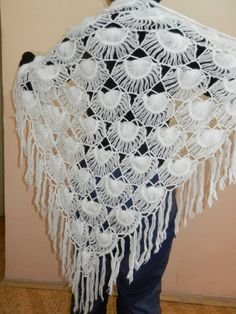 Hairpin lace shawl Meershaum by svemal56 on Etsy, $57.35