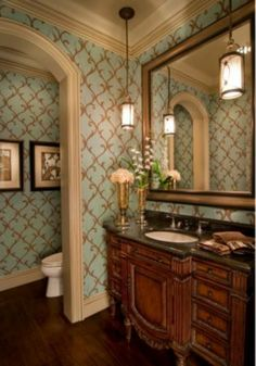 Luv the wallpaper.... Elegant! Printers Guild Designer Wallpaper at http://lelandswallpaper.com