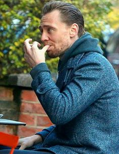 I didn't realize I needed a picture of Tom Hiddleston sucking his finger, but now I see the error of my ways.