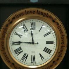 Live love laugh clock- Target
