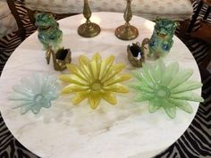Gorgeous Set of Three Lotus Glass Bowls  $60 Set  Eclectic Treasures Booth #8279  Lula B's  1010 N. Riverfront Blvd. Dallas, TX 75207