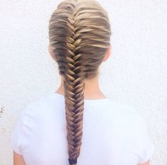 Fish tale braid.