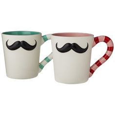 Target : Mustache Mugs Set of 2 - Pink/Blue : Image Zoom