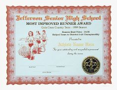Full Color Sports Certificates In Various Sports. In House Designed  Borders, Seals, And Graphics.