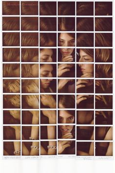 Sofia Coppola by Maurizio Galimberti.  This is a really interesting design.  It creates a sense of rhythm and movement, especially with the repetitive shapes and Coppola's hair.