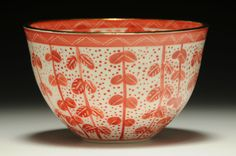 Red Bird Series Medium Bowl by Adriana Christianson