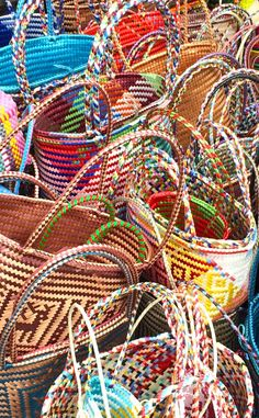 Beautiful Baskets full of color -Ajijic, Mexico