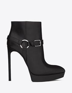 SAINT LAURENT Classic Janis 105 Buckle Ankle Boots