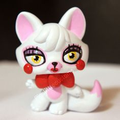 Toy Foxy / Mangle from FNAF2 inspired LPS custom by pia-chu.deviantart.com on @DeviantArt