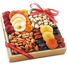 Pacific Coast Deluxe Dried Fruit & Nuts Gift Basket Wooden Tray Free Shipping -  Send as a gift - just fill in recipient's address at the space for the shipping address at checkout!  #PacificCoast #AnyOccasion