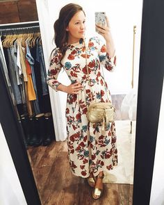 I wore this floral dress tonight for the first time and I love it! I was expecting it to be a jersey material and it turned out to be chiffon! It's still adorable and perfect for Spring ❤️ Get the details sent directly to your inbox by signing up with LiketoKnow.it!   @liketoknow.it www.liketk.it/2if6v #liketkit