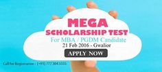 #Careermantra Presenting - Mega #Scholarship Test for #MBA & #PGDM Candidate ! Apply now