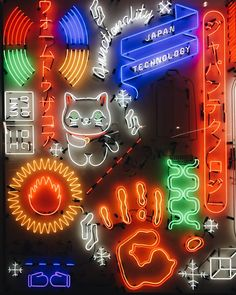 Download this free HD photo of japan, neon, technology and color in New York, United States by Eddi Aguirre (@soloeddi)