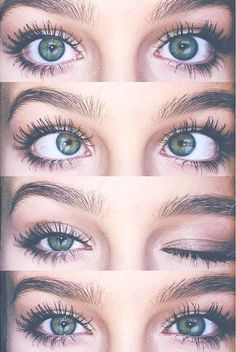 Her eyes were beautifully green and she had long thick black eyelashes they were so expressive they seemed to tell a story by themselves. Cute Eyes, Pretty Eyes, Beautiful Eyes Color, Beauty Makeup, Eye Makeup, Shotting Photo, Aesthetic Eyes, Eye Photography, Eye Art