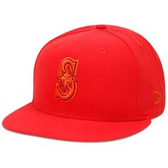 Men's Seattle Mariners New Era Hot Red Tonal Pop 59FIFTY Fitted Hat