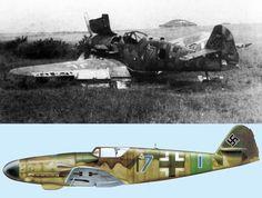 Bf109 K4 из 12/JG27, найденный недалеко от Праги, май 1945