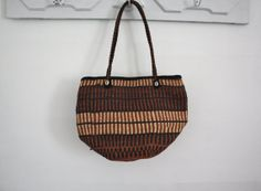 Brown and Black Woven Bag by FriendsWithBothArms on Etsy, $39.00