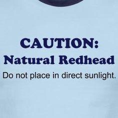 Caution: Natural Redhead