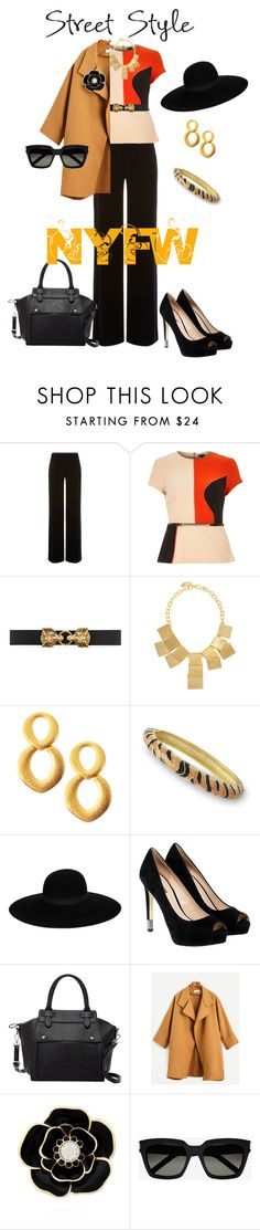 """""""#nyfw"""" by kelly-haven-russell ❤ liked on Polyvore featuring Armani Collezioni, River Island, Gucci, Kenneth Jay Lane, Maison Michel, GUESS, Pink Haley, Liz Claiborne and Yves Saint Laurent"""