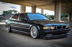 BMW E38 7 series black slammed cars Pinterest
