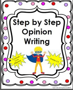 Step by Step Opinion Writing: Grades Common Core Aligned Writing Task and Letter Writing Activity. Opinion Paragraph, Opinion Essay, Fact And Opinion, Opinion Writing, Teaching Writing, Teaching Resources, Guided Practice, Sorting Activities, Teacher Pay Teachers