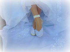 Lace Bridal Ballet Shoe by Hopefully Romantic on Etsy