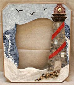 Long Island Lighthouse Mosaic Picture Frame