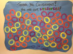 Custodian Appreciation Banner- do with lifesavers