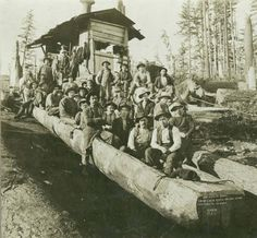 Log chute boat, Clear Lake, Washington, early 1900s :: Clear Lake Heritage