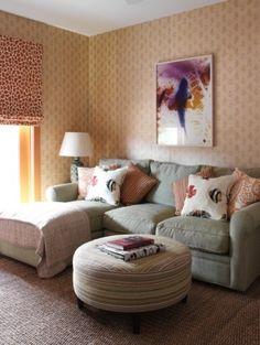 modern family room by Tara Seawright - master bedroom sitting area