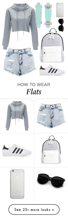 """""""Untitled #134"""" by mimikhoran on Polyvore featuring Boohoo, adidas Originals, Poverty Flats and Native Union"""
