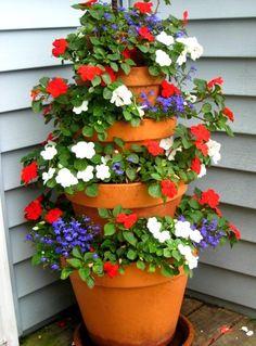 tiered summer planter