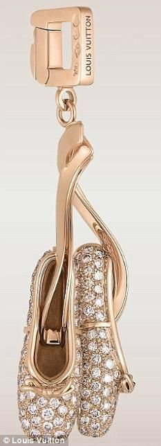 The 204 carat pink diamond keyring from Louis Vuitton also doubles as a charm