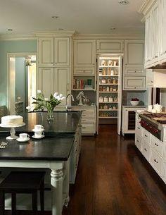 love the hidden pantry