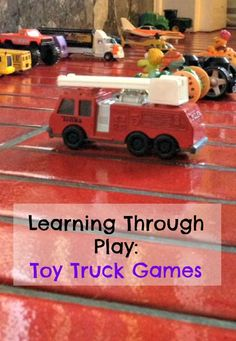 SO many ways to learn while playing with toy trucks! These activities and games are so simple and perfect for preschoolers